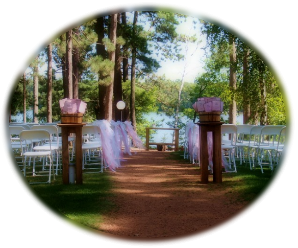 a wedding layout at Black Bear Lodge